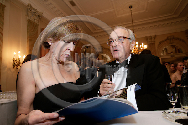 BRUSSELS - BELGIUM - 28 NOVEMBER 2006 -- EV50 Gala - The European of the Year Awards -- Jean-Marc de la SABLIERE, Diplomat of the Year and his wife.     PHOTO: ERIK LUNTANG / EUP-IMAGES