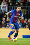 Paulinho Maciel of FC Barcelona runs with the ball during the La Liga 2017-18 match between FC Barcelona and Deportivo La Coruna at Camp Nou Stadium on 17 December 2017 in Barcelona, Spain. Photo by Vicens Gimenez / Power Sport Images
