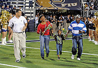 The parents of deceased Florida International University football player Kendall Berry were honored on Senior Night before the game against  Florida Atlantic University on November 12, 2011 at Miami, Florida. FIU won the game 41-7. .