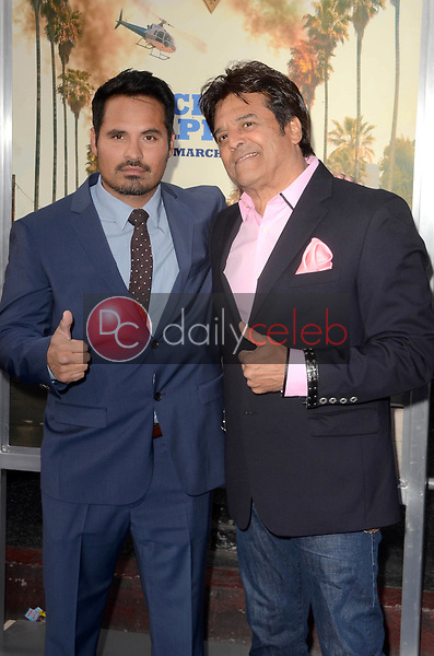 """Michael Pena, Eric Estrada<br /> at the """"Chips"""" Los Angeles Premiere, TCL Chinese Theater, Hollywood, CA 03-20-17<br /> David Edwards/DailyCeleb.com 818-249-4998"""