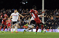 Blackburn Rovers' Lucas Joao scores his sides second goal in injury time to make the score 2-2<br /> <br /> Photographer /Ashley WesternCameraSport<br /> <br /> The EFL Sky Bet Championship - Fulham v Blackburn Rovers - Tuesday 14th March 2017 - Craven Cottage - London<br /> <br /> World Copyright &copy; 2017 CameraSport. All rights reserved. 43 Linden Ave. Countesthorpe. Leicester. England. LE8 5PG - Tel: +44 (0) 116 277 4147 - admin@camerasport.com - www.camerasport.com
