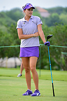 Lexi Thompson (USA) watches her tee shot on 9 during round 2 of  the Volunteers of America Texas Shootout Presented by JTBC, at the Las Colinas Country Club in Irving, Texas, USA. 4/28/2017.<br /> Picture: Golffile | Ken Murray<br /> <br /> <br /> All photo usage must carry mandatory copyright credit (&copy; Golffile | Ken Murray)