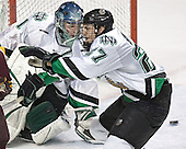 Jordan Parise, Matt Smaby - The University of Minnesota Golden Gophers defeated the University of North Dakota Fighting Sioux 4-3 on Saturday, December 10, 2005 completing a weekend sweep of the Fighting Sioux at the Ralph Engelstad Arena in Grand Forks, North Dakota.