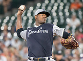 New York Yankees starting pitcher Luis Severino (40) works in the first inning against the Baltimore Orioles at Oriole Park at Camden Yards in Baltimore, MD on Sunday, August 26, 2018. <br /> Credit: Ron Sachs / CNP<br /> <br /> (RESTRICTION: NO New York or New Jersey Newspapers or newspapers within a 75 mile radius of New York City)
