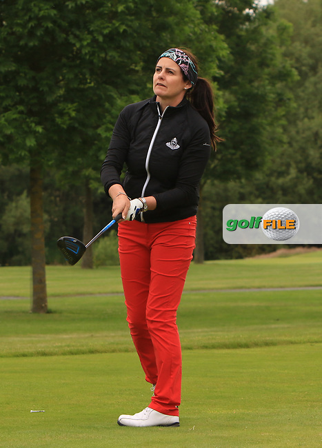 Hazel Kavanagh (Car Golf Centre at Spawell) on the 7th tee during Round 1 of the Titleist &amp; Footjoy PGA Professional Championship at Luttrellstown Castle Golf &amp; Country Club on Tuesday 13th June 2017.<br /> Photo: Golffile / Thos Caffrey.<br /> <br /> All photo usage must carry mandatory copyright credit     (&copy; Golffile | Thos Caffrey)