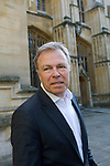 Gavin Hewitt, BBC Eorope Editor, in front of the Divinity School during the FT Weekend Oxford Literary Festival, Oxford, UK. Saturday 29 March 2014.<br /> <br /> PHOTO COPYRIGHT Graham Harrison<br /> graham@grahamharrison.com<br /> <br /> Moral rights asserted.