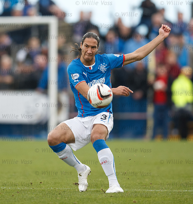 Bilel Mohsni coaxes the ball up the park
