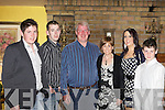 John and Liz Stack from Caherhayes, Abbeyfeale, pictured here with children Mark, Darren, Lisa and Johnny,  celebrated their 25th Wedding Anniversary last Saturday night in the Devonn Inn, Templeglantine.