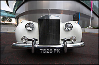 BNPS.co.uk (01202 558833)<br /> Pic: CheshireClassicCars/BNPS<br /> <br /> An exceptionally rare Rolls-Royce formerly belonging to a production designer famous for his work on seven early James Bond films and Dr Strangelove has emerged for &pound;300,000. <br /> <br /> Sir Ken Adam, who created the triangular Pentagon War Room in Dr Strangelove and the villain's headquarters Dr No, owned the 1959 Silver Cloud I for over 40 years. <br /> <br /> He purchased the ultra-rare right hand drive Drophead Coup&eacute;, one of only three ever built, in 1975, the same decade he worked on Diamonds Are Forever, The Spy Who Loved Me and Moonraker.