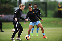 Boyds, MD - Saturday May 6, 2017: Dominique Richardson prior to a regular season National Women's Soccer League (NWSL) match between the Washington Spirit and Sky Blue FC at Maureen Hendricks Field, Maryland SoccerPlex.