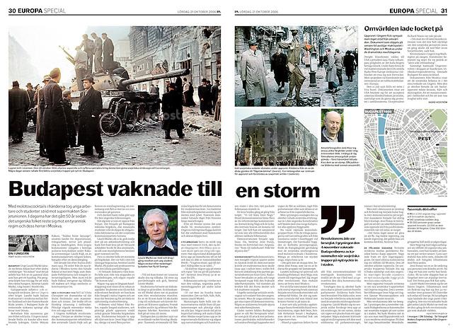 Dagens Nyheter, Sweden, 2006 October 21, Photographer: Jenö Kiss