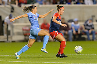 Chicago, IL - Saturday Sept. 24, 2016: Vanessa DiBernardo, Christine Nairn during a regular season National Women's Soccer League (NWSL) match between the Chicago Red Stars and the Washington Spirit at Toyota Park.