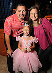 Henry and Angela Rodriguez with Bailey,6, at the M.D. Anderson Halloween party at The Galleria Sunday Oct 25, 2015.(Dave Rossman photo)