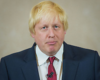 Boris Johnson at press conference after announcing he is out of the Conservative race to replace Cameron. Prime Minister candidate no more.  London, England June 30, 2016<br /> CAP/CAM<br /> &copy;Andre Camara/Capital Pictures /MediaPunch ***NORTH AND SOUTH AMERICAS ONLY***