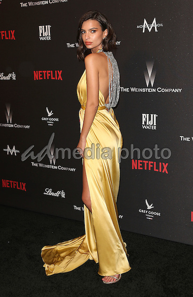 08 January 2016 - Beverly Hills, California - Emily Ratajkowski. 2017 Weinstein Company And Netflix Golden Globes After Party held at the Beverly Hilton. Photo Credit: F. Sadou/AdMedia