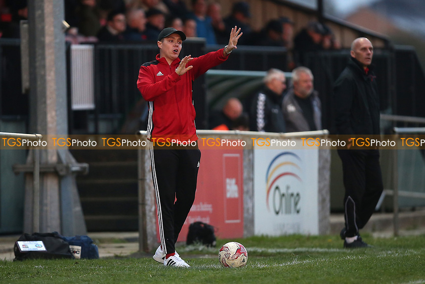 May & Baker manager Micky Wetherall during May & Baker vs Swaffham Town, Buildbase FA Vase Football at Gale Street on 4th November 2018