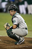 February 20, 2010:  Catcher Gary DerHagopian (9) of the Siena Saints during the season opener at Melching Field at Conrad Park in DeLand, FL.  Siena defeated Stetson by the score of 8-4.  Photo By Mike Janes/Four Seam Images
