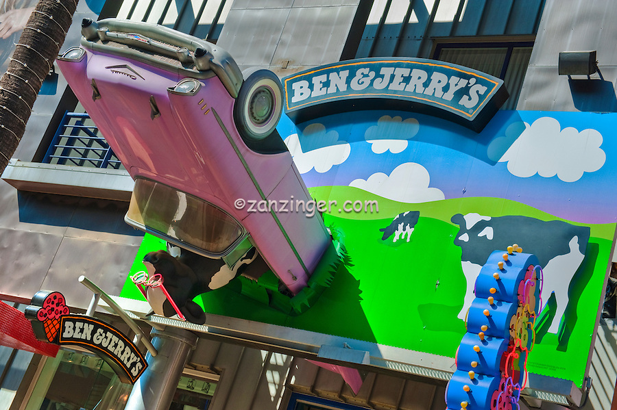 Ben & Jerry's, Universal City, CA, Citywalk, Universal City, California, City Walk, Citywalk, Universal studios, holiday,  travel, us, usa, vacation,