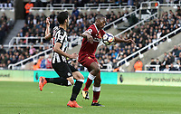 Liverpool's Daniel Sturridge under pressure from Newcastle United's Mikel Merino<br /> <br /> Photographer Rich Linley/CameraSport<br /> <br /> The Premier League -  Newcastle United v Liverpool - Sunday 1st October 2017 - St James' Park - Newcastle<br /> <br /> World Copyright &copy; 2017 CameraSport. All rights reserved. 43 Linden Ave. Countesthorpe. Leicester. England. LE8 5PG - Tel: +44 (0) 116 277 4147 - admin@camerasport.com - www.camerasport.com