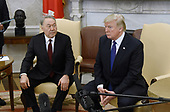 United States President Donald J. Trump meets with President Nursultan Nazarbayev of Kazakhstan in the Oval Office  of the White House January 16, 2018 in Washington, DC. <br /> Credit: Olivier Douliery / Pool via CNP