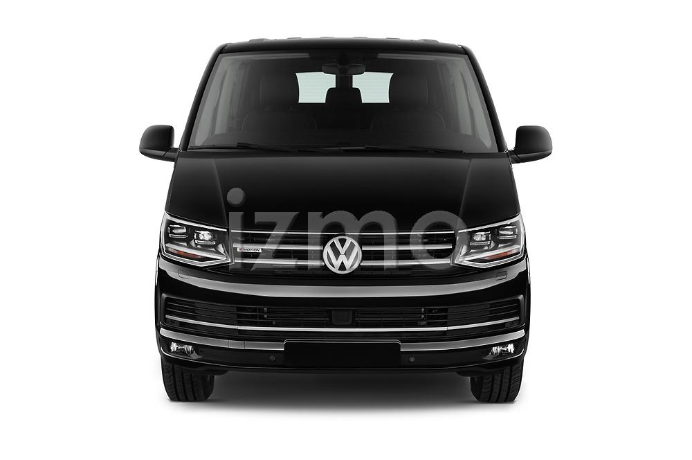 Car photography straight front view of a 2019 Volkswagen Caravelle Highline 4 Door Passenger Van