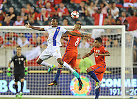 Philadelphia, PA - Tuesday June 14, 2016: Fidel Escobar, Arturo Vidal prior to a Copa America Centenario Group D match between Chile (CHI) and Panama (PAN) at Lincoln Financial Field.
