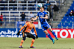 Ulsan Hyundai Defender Lee Kije (R) in action against Brisbane Roar Forward Brandon Borrello (L) during the AFC Champions League 2017 Group E match between Ulsan Hyundai FC (KOR) vs Brisbane Roar (AUS) at the Ulsan Munsu Football Stadium on 28 February 2017 in Ulsan, South Korea. Photo by Victor Fraile / Power Sport Images