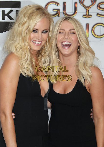 Malin Akerman, Julianne Hough.Spike TV's 6th Annual 'Guys Choice' Awards held at Sony Pictures Studios, Culver City, California, USA..2nd June 2012 .half length black dress low cut neckline cleavage smiling mouth open.CAP/ADM/RE.©Russ Elliot/AdMedia/Capital Pictures.