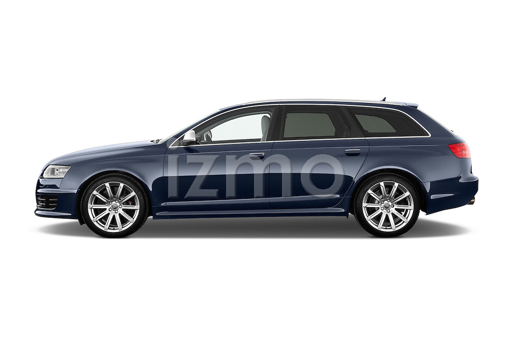 Driver side profile view of a 2008 - 2013 Audi RS6 5 Door Wagon 4WD.