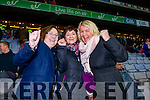 St Mary's fans, Lorraine Griffin, Mary Anne Casey and Paula Brennan, pictured at the All Ireland Intermediate football final held in Croke Park on Sunday