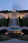 Israel, Mount Carmel. The Bahai Shrine and garden in Haifa
