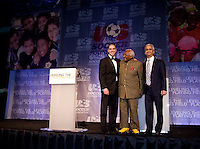 Desmond Tutu, Antonio Zea, Sunil Gulati. The 2010 US Soccer Foundation Gala was held at City Center in Washington, DC.