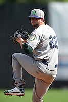 Beloit Snappers pitcher Kyle Finnegan (22) delivers a pitch during a game against the Clinton LumberKings on August 17, 2014 at Ashford University Field in Clinton, Iowa.  Clinton defeated Beloit 4-3.  (Mike Janes/Four Seam Images)