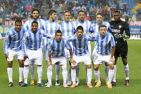 5.05.2012 SPAIN -  La Liga matchday 37th  match played between Atletico de Madrid vs Malaga (2-1) at Vicente Calderon stadium. The picture show Malaga C.F. Team Group Liune-up