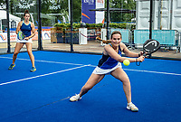 Rosmalen, Netherlands, 15 June, 2019, Tennis, Libema Open, NK Padel, Final Padel womans double: Rosalie van der Hoek (L) and Tess van Dinteren (NED)<br /> Photo: Henk Koster/tennisimages.com
