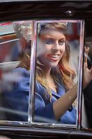 LONDRES, INGLATERRA, 05 DE JUNHO 2012 - JUBILEU DE DIAMANTE DA RAINHA ELIZABETH - A princesa Eugenia chega a Catedral de Sao Paulo durante o Jubileu de Diamante da Rainha Elizabeth em Londres capital do Reino Unido, nesta terça-feira, 05. (FOTO: BILLY CHAPPEL / ALFAQUI / BRAZIL PHOTO PRESS)