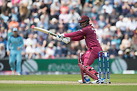 Shimron Hetmyer (West Indies) cuts straight to the field during England vs West Indies, ICC World Cup Cricket at the Hampshire Bowl on 14th June 2019