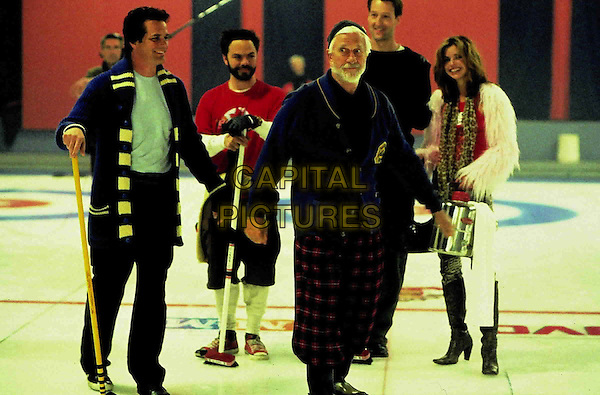 PAUL GROSS, JED REES, LESLIE NIELSEN, JAMES ALLODI & POLLY SHANNON.in Men With Brooms.Filmstill - Editorial Use Only.Ref: FB.www.capitalpictures.com.sales@capitalpictures.com.Supplied by Capital Pictures