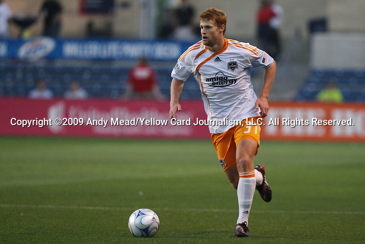 05 June 2009: Houston's Andrew Hainault. The Houston Dynamo defeated the Chicago Fire 1-0 at Toyota Park in Bridgeview, Illinois in a regular season Major League Soccer game.