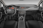 Straight dashboard view of a 2010 Citroen C5 Dynamique 5 Door Wagon 2WD