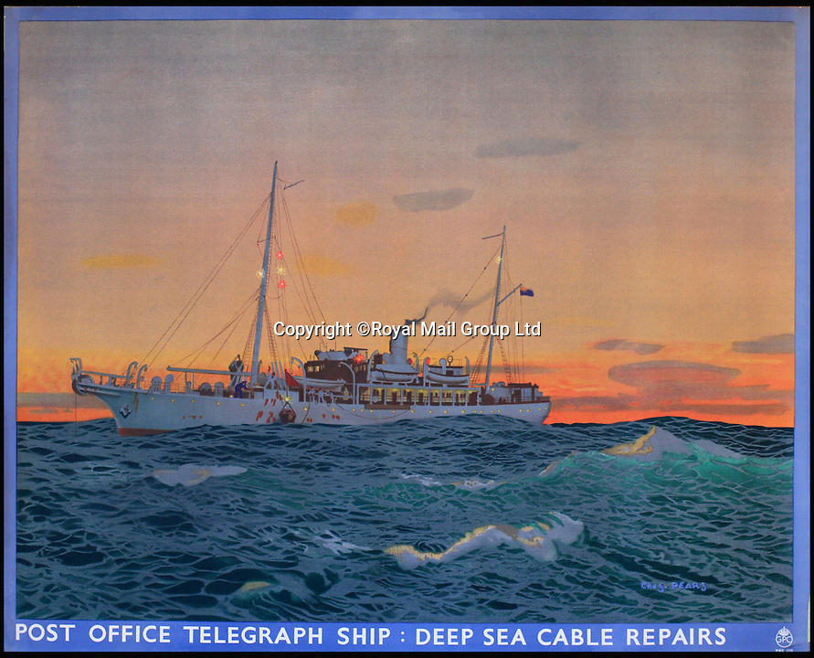 BNPS.co.uk (01202 558833)<br /> Pic: RoyalMailGroup/BNPS<br /> <br /> Chas Pears (1873-1958) Post Office Telegraph Ship: Deep Sea Cable Repairs, GPO poster PRD. Estimate: &pound;600-&pound;700<br /> <br /> A one-of-a-kind sale of rare vintage posters could net the Post Office &pound;40,000 to put towards the building of a new museum dedicated to the service.<br /> <br /> In a bid to raise funds for the new British Postal Museum, curators sifted through the Royal Mail archives to find duplicates of advertising posters dating back to the 1930s that they could sell at auction.<br /> <br /> The resulting collection of more than 150 original posters are now going under the hammer at Onslows Auctions in Blandford, Dorset, in a sale the likes of which has never been held before.<br /> <br /> The proceeds will go towards the building of the new museum in Camden, London, which will feature part of the old Post Office Underground Railway - the Mail Rail - as a heritage attraction.