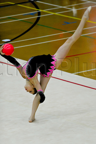 26.06.2011 British Rhythmic Gymnastics Championships from Fenton Manor in Stoke on Trent.Francesca Jones the Senior Champion