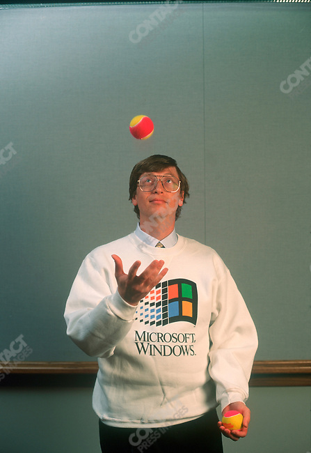 Bill Gates, Founder and CEO of Microsoft at Headquarters, Redmond, Washingtown, USA, February 1993