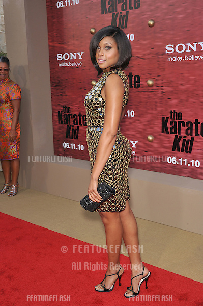 "Taraji P. Henson at the Los Angeles premiere of her new movie ""The Karate Kid"" at Mann Village Theatre, Westwood..June 7, 2010  Los Angeles, CA.Picture: Paul Smith / Featureflash"