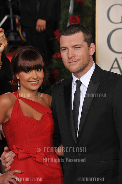Sam Worthington & Natalie Mark at the 67th Golden Globe Awards at the Beverly Hilton Hotel..January 17, 2010  Beverly Hills, CA.Picture: Paul Smith / Featureflash