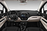 Stock photo of straight dashboard view of 2017 Renault Capture Initiale-Paris 5 Door SUV Dashboard