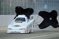 Feb. 11, 2012; Pomona, CA, USA; NHRA top alcohol funny car driver Daniel Oliver during the Winternationals at Auto Club Raceway at Pomona.Mandatory Credit: Mark J. Rebilas-