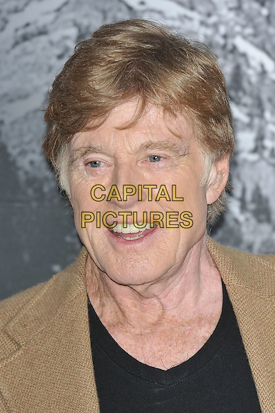 Robert Redford arriving for the opening of the Sundance Film and Music Festival at the o2 Arena, Greenwich, London, England..26th April 2012.headshot portrait brown beige black top  mouth open.CAP/MAR.© Martin Harris/Capital Pictures.