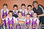 The Scartaglen team that competed in the Garda/KDYS basketball blitz in the Castleisland Community Centre on Friday front row l-r: Siobhain Collins, Aisling O'Connell, Sarah O'Sullivan, Maeve Young. Back row: Sean Horan, Paraic O'Connor, Eddie Horan, Padraig O'Connor and Jim O'Connor..