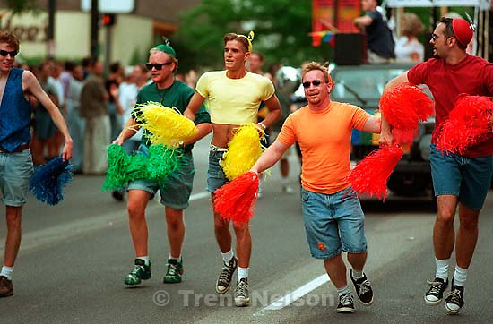 &quot;Cheerleaders&quot; at the Gay Pride Parade.<br />